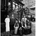 13.Members of the Soong family on the occasion of Ei-ling's wedding to H.H. Kung, in Japan, September 1914. From left: T.L., Charlie, T.A., Ching-ling, Mrs Soong, H.H., Ei-ling.