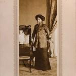 Ei-ling in a photo studio in Beijing, 1912.
