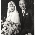 The wedding of May-ling and Chiang Kai-shek's, December 1927. She became the first lady of China when Chiang established a Nationalist government in 1928.