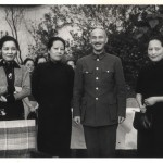 The sisters with Chiang Kai-shek at a reception in Chongqing, 1940 (from left: May-ling, Ei-ling, Chiang, Ching-ling). Ching-ling always kept a distance from her brother-in-law, whom she loathed.