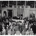 May-ling had a triumphant official visit to America in 1943. The highlight was addressing Congress, 18 February.