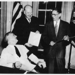 38.T.V. Soong (right), China's wartime foreign minister, with President Roosevelt and US Postmaster General James Farley in Washington in 1942. A commemorative stamp was issued on 7 July that year in recognition of the Fifth Anniversary of Chinese Resistance to Japanese Aggression.