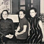 Three sisters (from left: Ching-ling, Ei-ling, May-ling), possibly at Ei-ling's house in Chongqing during the Second World War. Soon they would be torn apart by the Nationalist–Communist civil war and would never see each other again.