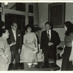 Ching-ling entertaining guests with her adopted daughter, Yolanda, at home in Beijing in the 1970s.