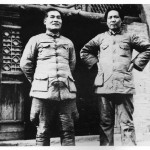 Mao's main Party rivals.  Chang Kuo-tang (left) with Mao in Yenan, 1937.  Mao sabotaged Chang's much larger army on the Long March; he then sent half the remainder to its doom in the Northwest desert, finally burying the survivors alive.  Chang fled the Reds in 1938.