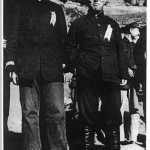 Party rival Wang Ming (right) with Mao shortly after arriving in Yenan from Moscow in late 1937, bringing Stalin's orders for the CCP to fight Japan.  Mao, who welcomed the Japanese invasion as a way to destroy Chiang Kai-shek, felt threatened by Wang Ming, and had him poisoned.