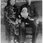 My grandmother's sister Lan and her husband 'Loyalty', with their baby son shortly after 'Loyalty' joined Kuomintang intelligence, Jinzhou, 1946.