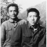 My father in the camp at Miyi, with Jin-ming, late 1971, just after the death of Lin Biao.