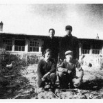 My grandmother's brother Yu-lin with his wife and children in front of the house they had just built for themselves after ten years' exile in the country, in 1976.  It was then they decided to get in touch with my grandmother aftewr a decade of silence.  They sent the photo to tell her they were all right, not knowing that she had died seven years earlier.