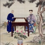 A court painter's rendering of Cixi playing Go with a eunuch.