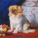From the Old Summer Palace, 'Lootie', a Pekinese, was taken to Britain and presented to Queen Victoria, who had it painted.