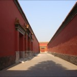 The harem, at the rear of the Forbidden City.  Cixi found its high walls and closed-in alleys 'depressing'.