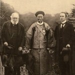 Li Hongzhang (Earl Li), the most important reformer to serve Cixi.  In Britain in 1896, with Lord Salisbury, British Prime Minister (on the left), and Lord Curzon (on the right).