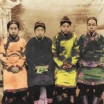 Girls with bound feet. One of Cixi's first decrees upon her return to Beijing was to outllaw foot-binding.