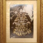 A photographic portrait of Cixi sent to US President Theodore Roosevelt in 1904, thanking him for his good wishes for her seventieth birthday.  Her face has been airbrushed in the photgraph.