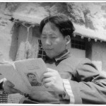 Mao posing outside one of his residences in 1939 reading Stalin for a documentary by Stalin's favourite film-maker, Roman Karmen, who duly reported back on Mao's 'devotion'.
